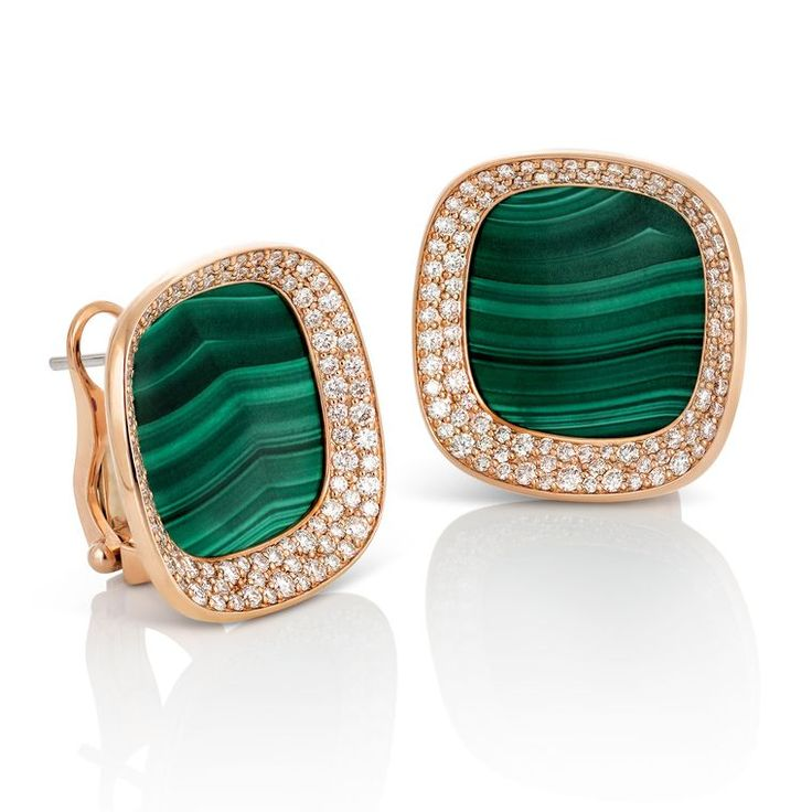 Find out more Roberto Coin Carnaby Street malachite earrings in rose gold with diamonds ($9,000)