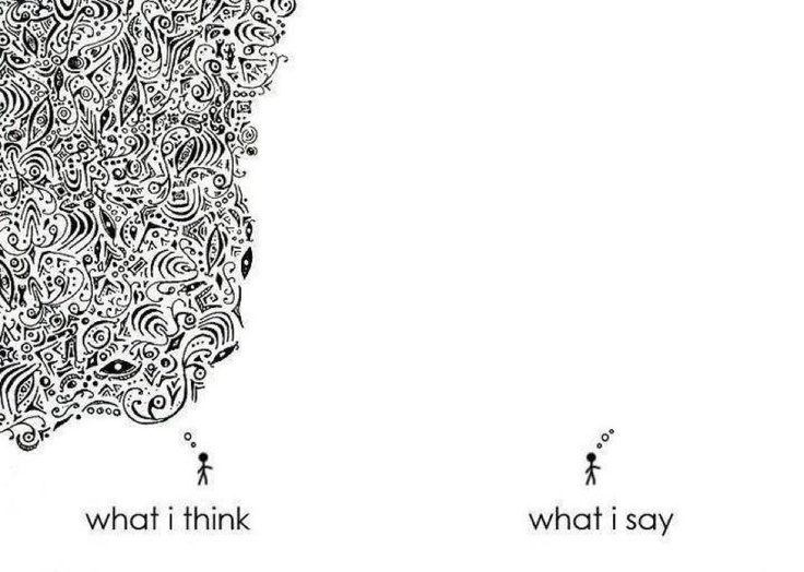 What I think and What I say