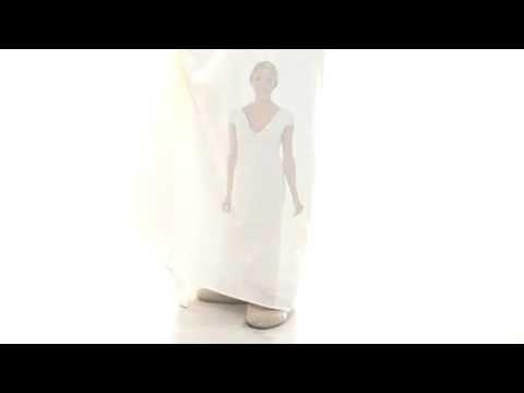 Rochie alb sidefiu de mireasa - brand ABS Allen Schwartz