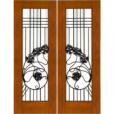 Door Emporium - Thick Contemporary Mahogany Doors with Wrought Iron and Dual Insulated Low-E  sc 1 st  Pinterest & 15 best Air Lock images on Pinterest   Double entry doors Antique ... pezcame.com