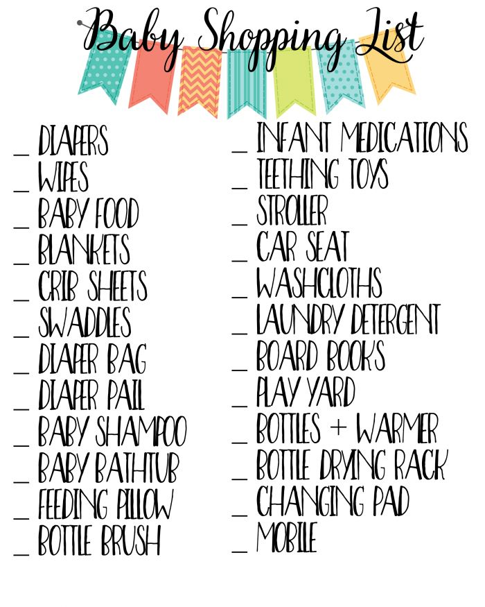 Use these free baby printables to help get you organized for your new arrival!