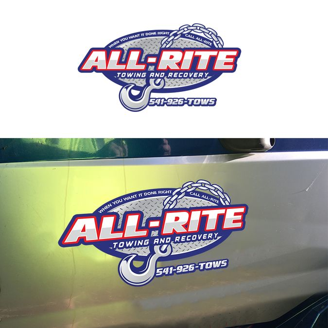Create a captivating logo for a towing and recovery business (All-Rite Towing and Recovery) Designers choose Automotive by YZ24