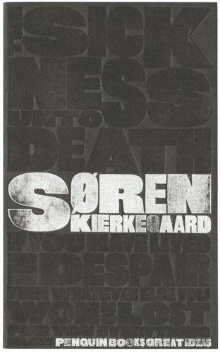 "Embossed cover for ""The Sickness Unto Death"" by Soren Kierkegaard."