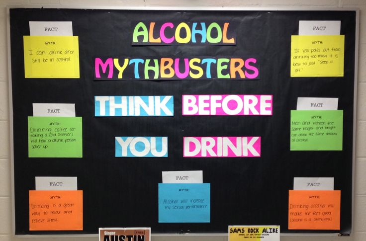 """Alcohol Mythbusters"" bulletin board for October RA Bulletin Board"