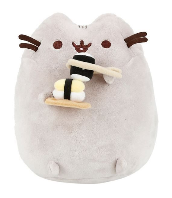 Pusheen has excellent sushi etiquette and impeccable chopstick skills. Just saying, you know, in case you are looking for the purrfect sushi date. Polyester fibers. | eBay!