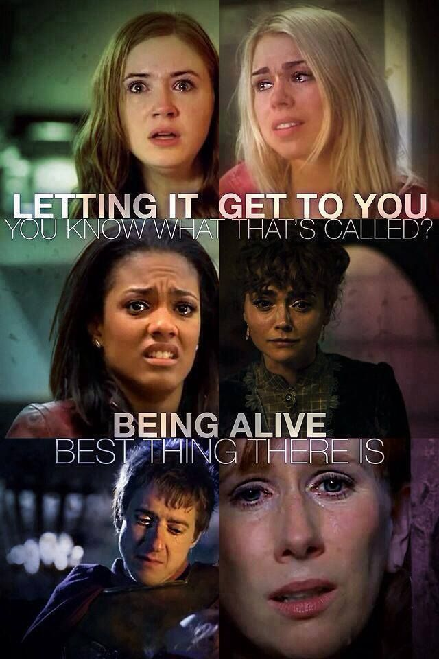 """ksc """"Letting it get to you. You know what that's called? Being alive. Best thing there is. Being alive right now is all that counts."""" ☺♥♥"""