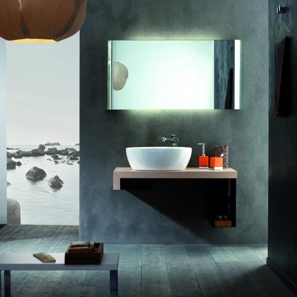 #Lavabo: Oplà di Valli Arredobagno #Design minimale e geometrie semplici. - www.gasparinionline.it #bagno #casa #interiors #mobilibagno
