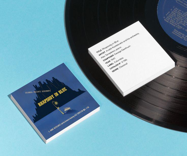 'Rhapsody in Blue' album art design by Alex Steinweiss.