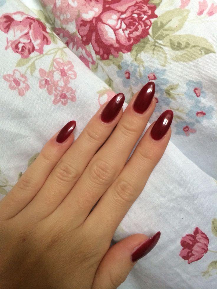 Ruby #nails #almond #stiletto