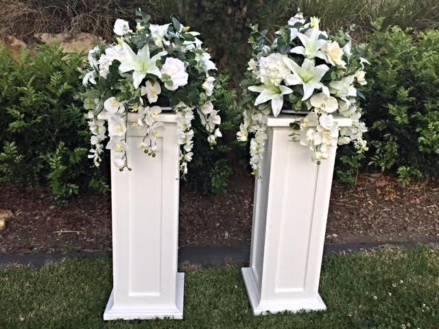 17 best images about wedding decor on pinterest for Decorative square columns