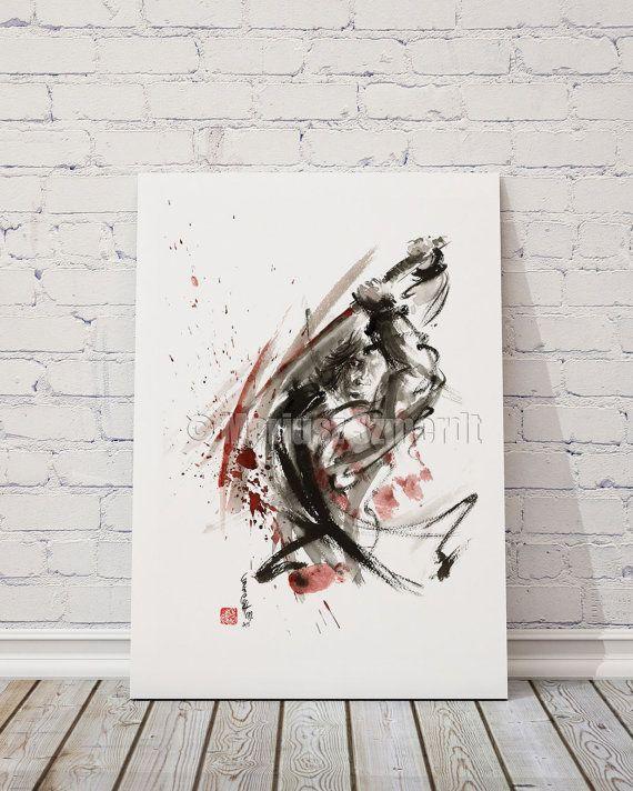 Samurai Poster Warrior Japanese Samurai Sword Art by SamuraiArt