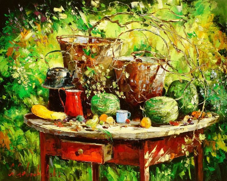 Глеб Голубецкий: картины, наполняющие радостью. | Art and Soul Project