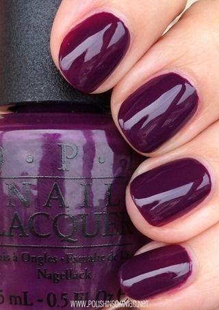 "OPI fall nail polish color ""Skating on Thin Iceland"". Gorgeous aubergine color."