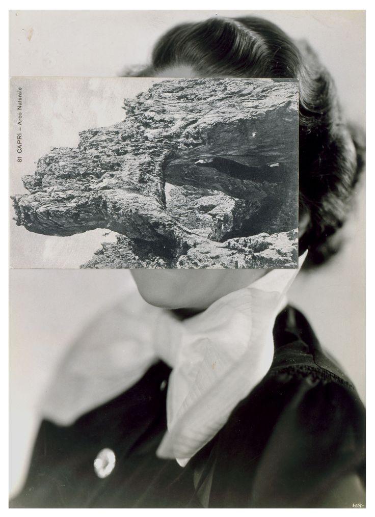 John Stezaker, Bird Mask II, 2006, collage, 23.5cm x 17cm© the artist, courtesy The Approach.