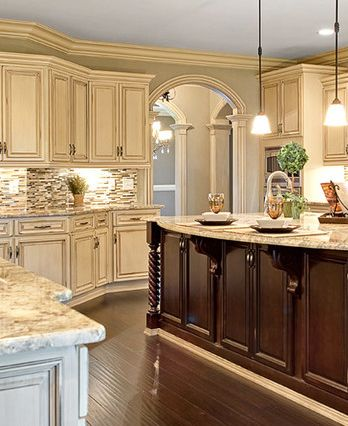 1000 images about home kitchen on pinterest copper for Antique white kitchen cabinets