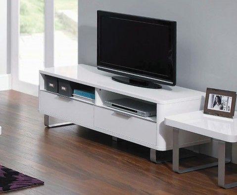Mya White High Gloss TV Unit