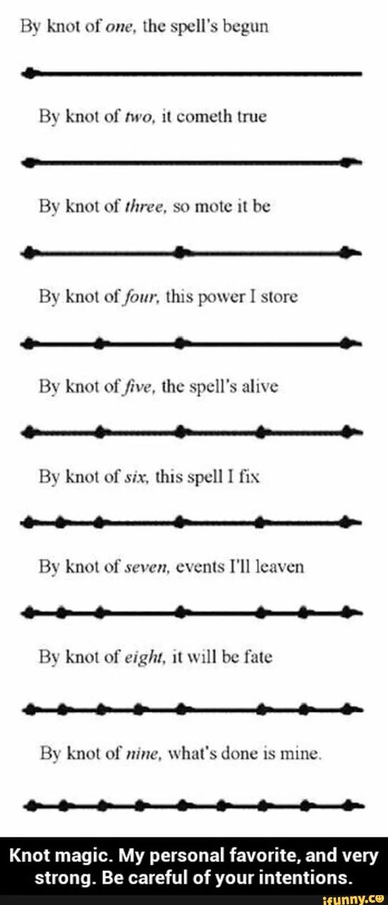 "becomingwiccan: ""A basic knot magick spell for beginners just seal your intentions into the rope. """