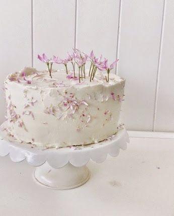 More #Spring garden wedding cake loveliness.  #handmade #bespoke #organic #brisbane #weddings   #cake #homegrown #edibleflowers #buttercream #pink