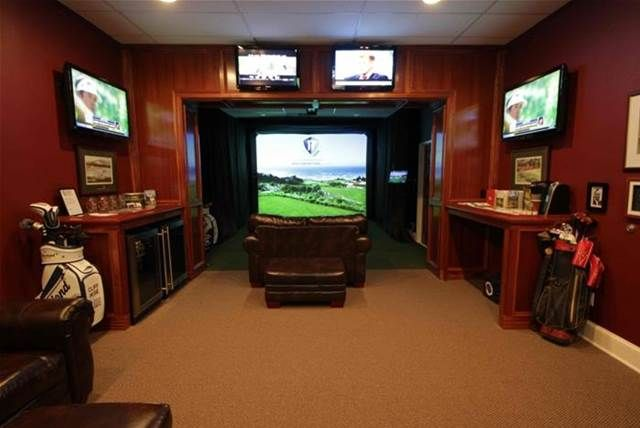 indoor golf simulator room bing images golf room pinterest