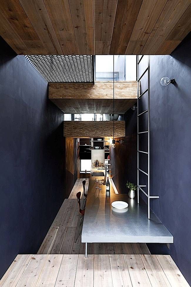 """Six foot wide Japanese house is """"where people and cats live happily"""" : TreeHugger"""