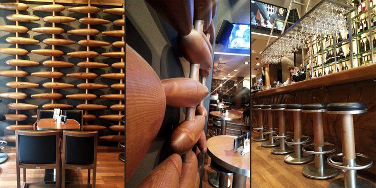 Menta Cafe Bar : Ξύλινες κατασκευές,bar, επένδυση τοίχων με μασίφ κυλινδρικά ξύλα και έπιπλα για το Menta Cafe Bar στην Κομνηνών. - See more at: http://masterwood.gr/portfolio/menta-cafe-bar/#sthash.quDdvRU4.dpuf