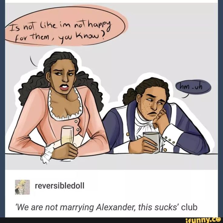 """More like """"we're both already married and our romantic love for Alexander Ha…"""