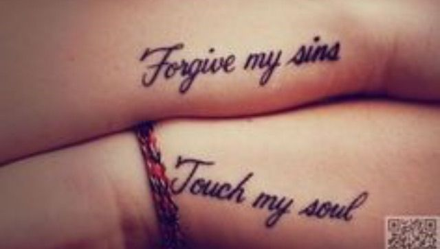 Forgive my sins Touch my soul Quote words saying tattoo script small tattoo