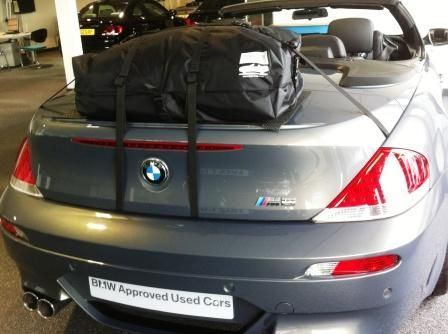 BMW 6 Series Luggage Rack Boot Rack Waterproof bag negating the need for a Luggage Rack