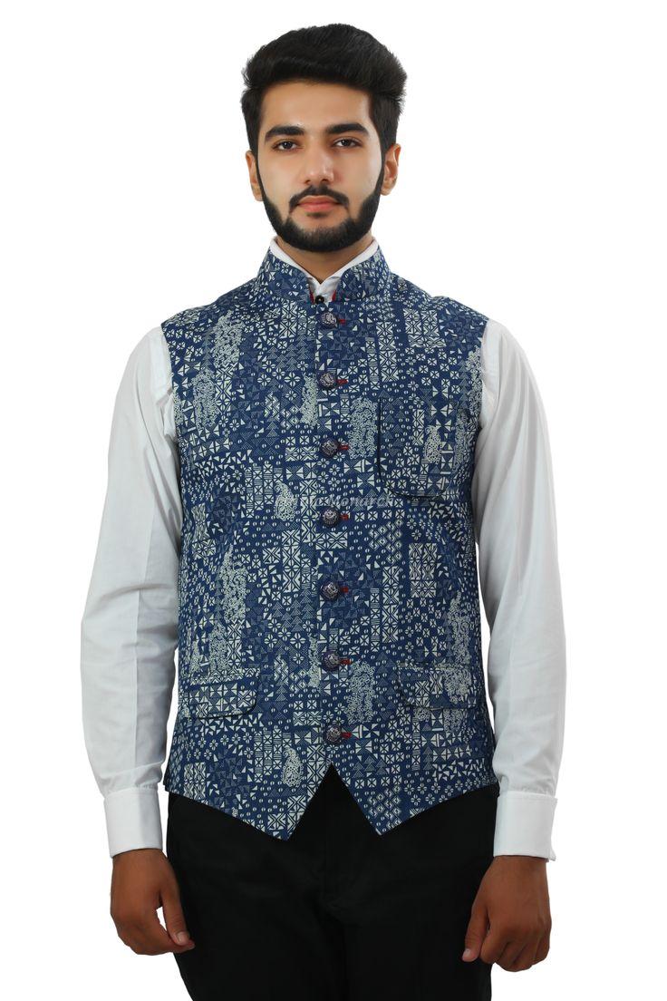 Jacket Blue Printed