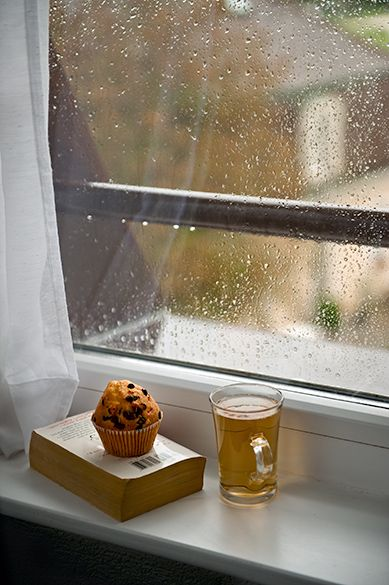 comtesse-du-chocolat:  Autumn afternoons… hot tea, a muffin & a good book! (source: pinterest.com)