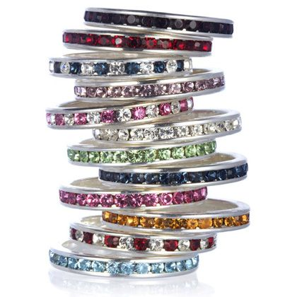Fun Stackable Stainless Steel Eternity Band Size 8 on sale for just $5!