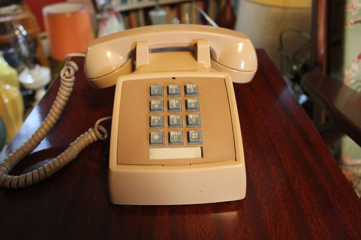 Beige Desk Phone, Working Bell Telephone, Touch Tone, Push Button Desk Phone, Western Electric Desk Phone, 1970s Phone by MadGirlRetro on Etsy