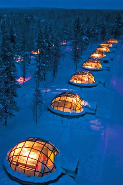 Item #19: sleep in a glass igloo at Kakslauttanen in Finland and watch the northern lights. Sigh*