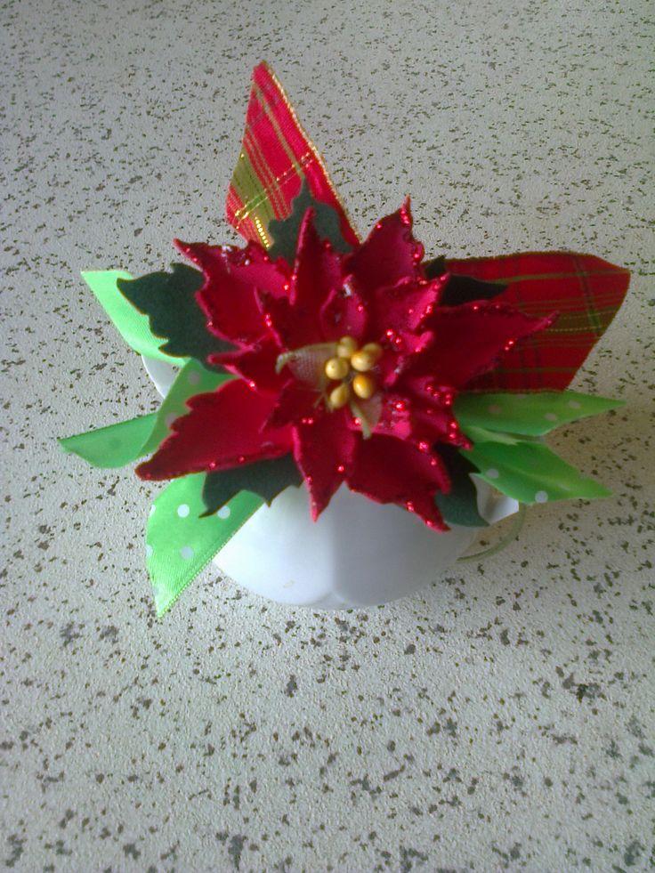 stella di Natale con gomma crepla e glitter