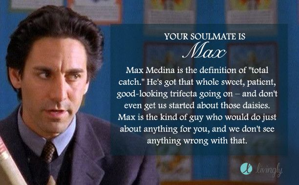 I took the Livingly 'Gilmore Girls Soulmate' quiz and got Max. Who's yours? - Quiz