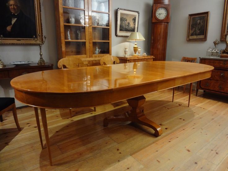 esstisch kulissentisch extendable dining table birke 19 th century