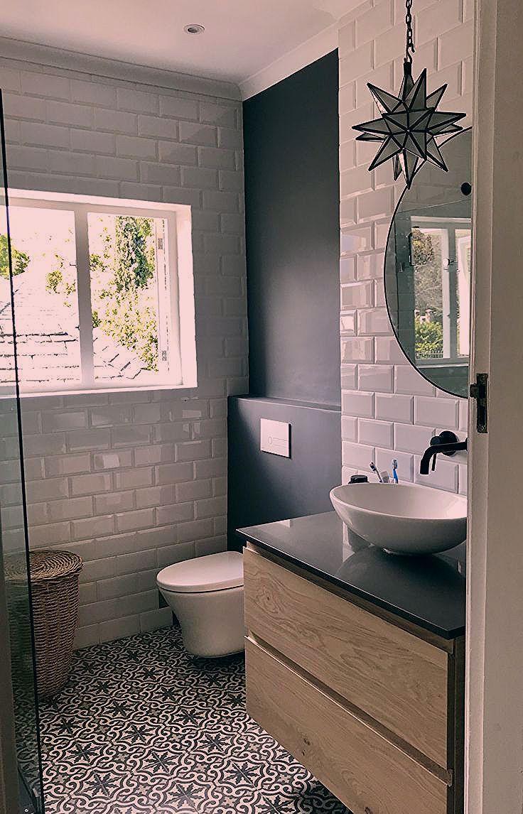 Bodenfliese Als Akzent Badezimmer Badezimmerboden Italienisches Badezimmer Badezimmer Klein