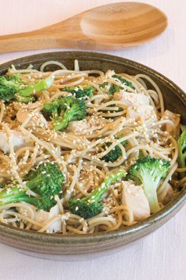 Sesame Noodles with Broccoli and Chicken, tastes so good you will want to make more! so easy and a great family meal!