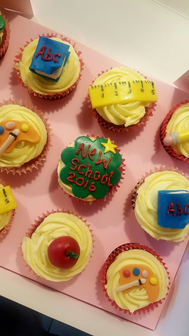 Opening of our new school! Celebration cupcakes ☺