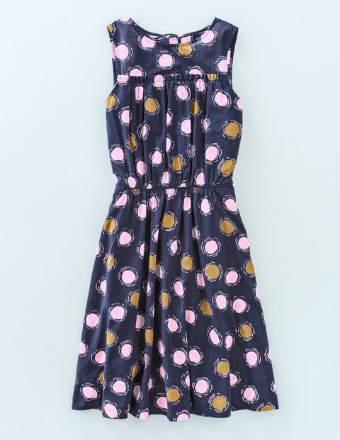 Floaty and feminine, this sleeveless dress is made from soft washed cotton voile in two artistic spotty prints. We've added ladylike charm with a ruffle at the bust, piping at the waist, and a delicate hand-tied bow at the back of the neck. It's as easy to wear as it is on the eye, but don't take our word for it...
