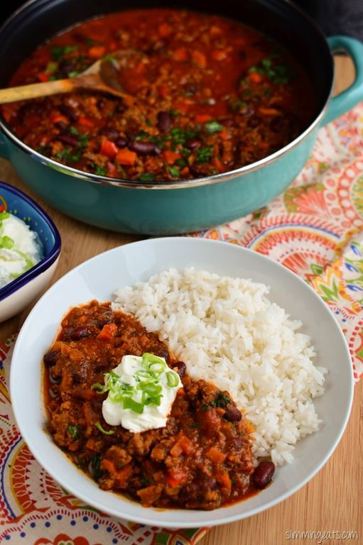 Slimming Eats Chilli Con Carne - Gluten Free, Slimming World and Weight Watchers friendly