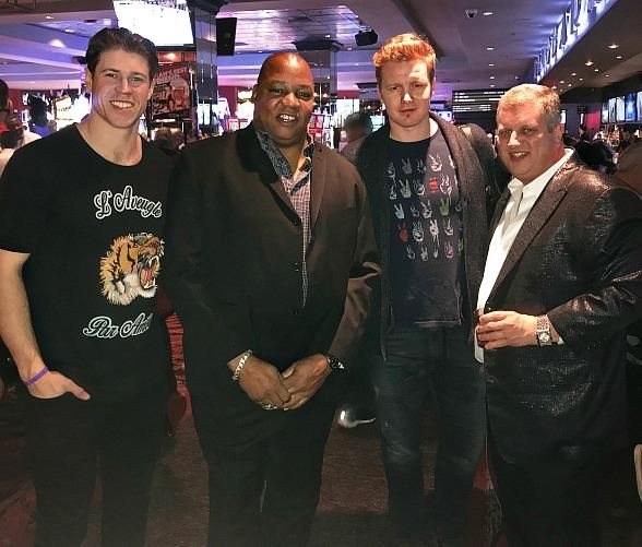 Matt Martin and Frederik Andersen of the Toronto Maple Leafs Dine at Andiamo Italian Steakhouse