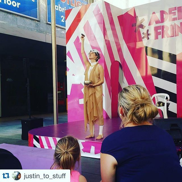 'Voices of Tali' at #NexusArts tonight! Last show! Here she's impressing the masses at the #RundalMall @adlfringe stage! #Repost @justin_to_stuff ・・・ #adelaidefringe #fringefestival #adlfringe #Adelaide #tali