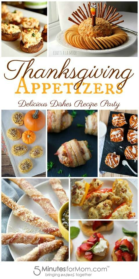 Thanksgiving Appetizers - These appetizer recipes are perfect for Thanksgiving dinner.