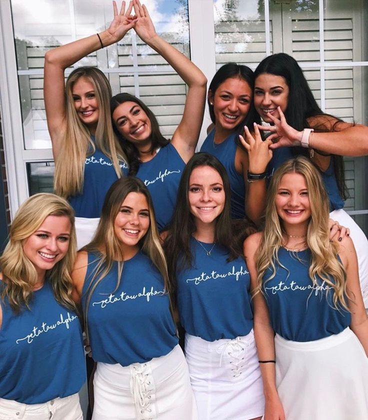 Custom recruitment shirts for University of Florida Zeta Tau Alpha, only from The Social Life! #custom #recruitment #zetataualpha #thesociallife #sorority