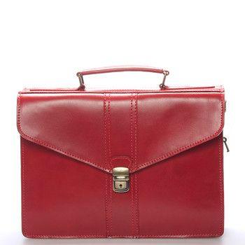 #aktovka #diplomatka #ItalYGreyson Červená business unisex kožená aktovka ItalY. Střední dvoufochová aktovka pro pány i dámy. Aktovka je středních rozměrů a lze ji použít i jako diplomatku nebo spisovku, do které se vejde notebook s maximálními rozměry 30 x 22 cm.