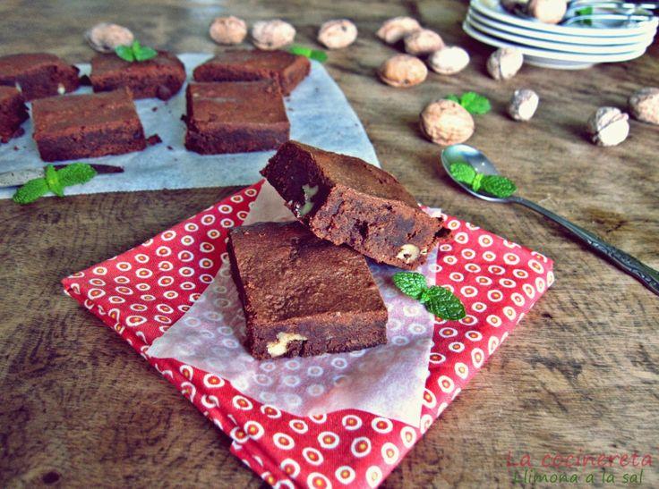 Brownie de Toblerone. Llimona a la sal.