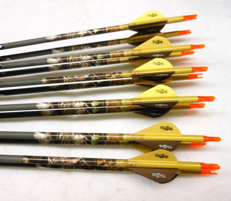 "1/2 dozen Gold Tip Pro Hunter 5575 carbon arrows w/blazers! Custom cutting!! #GoldTip  26 1/2"" length"
