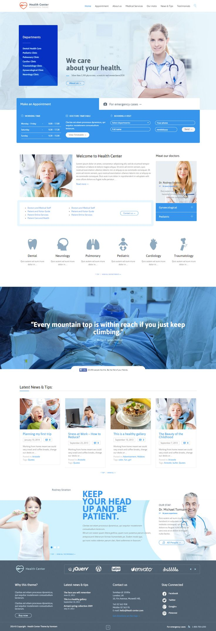Health Medical Center is Premium full Responsive Retina Parallax WordPress Medical theme. WooCommerce. Drag & Drop. One Page. http://www.responsivemiracle.com/cms/health-medical-center-premium-responsive-wordpress-theme/