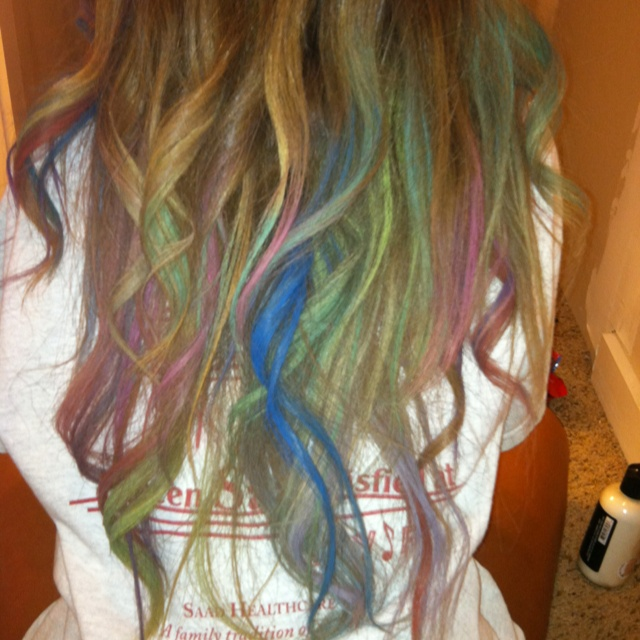 how to make hair chalk stay